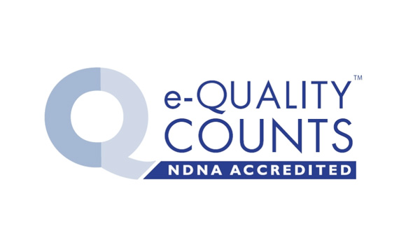 e-Quality Counts NDNA Accredited logo